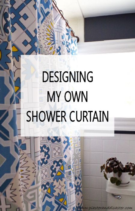 i had no idea you could design your own custom shower curtain