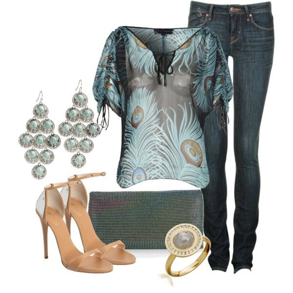 Nice .. Casual meets elegant: Peacock Feathers, Cute Tops, Skinny Jeans, Fashionista Trends, Tunics Tops, Weights Loss, Nice Outfits, Earrings, Woman Outfits