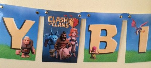 Happy Birthday Banner Inspired by The Clash of Clans | Party-Stop - Novelty on ArtFire