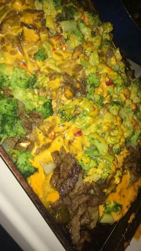 Roasted Potatoes With Cut Steak Broccoli Amp 3 Types Of