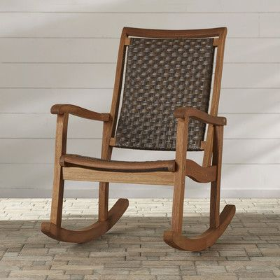 Three Posts Davis Eucalyptus Rocking Chair & Reviews | Wayfair