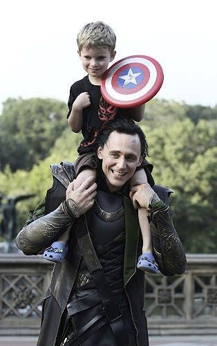 Love Tom Hiddleston!! plus a cute story of the luckiest kid ever.