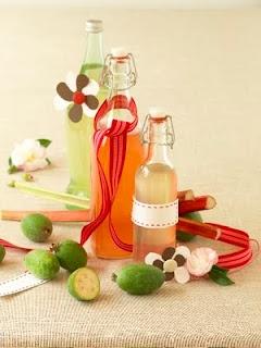 Cordials: feijoa and rhubarb