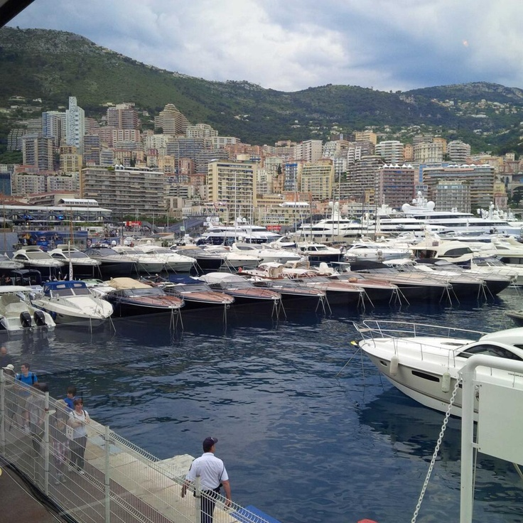 The best view from work of the year! Monaco 2013 by Tom Webb (Caterham F1)