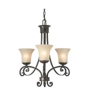 Hampton Bay Essex 3 Light Aged Black Chandelier