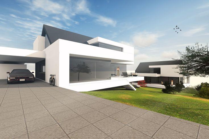 Hanghaus satteldach moderne architektur by for Architektenhaus modern