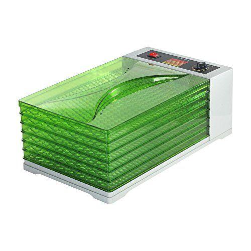 New Food Dehydrator 6 Tray Digital Commercial Fruit Dryer Adjustable.