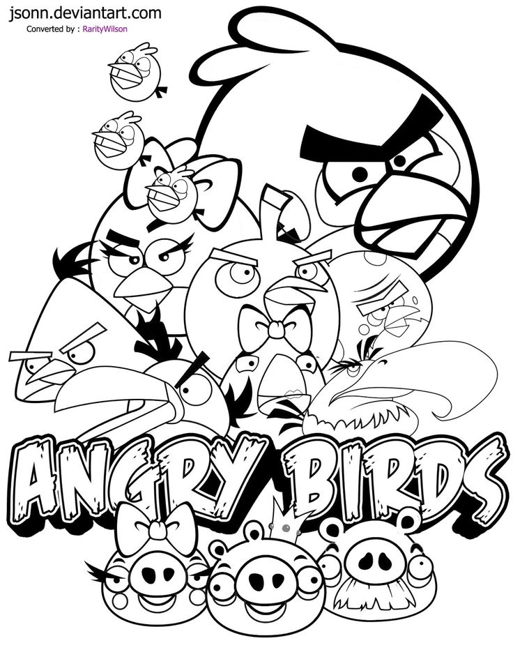 Printable Coloring Sheets Angry Birds
