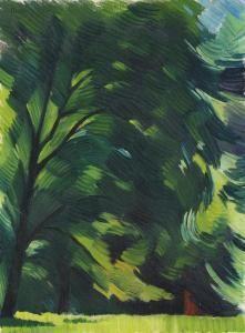 """Adolf Erbslöh (1881-1947) was een Duitse schilder . Samen met Marianne von Werefkin en Alexej Jawlensky initieerde hij de oprichting van de nieuwe Artists 'Association München (NKVM) , die later de """"Blaue Reiter"""" werd."""