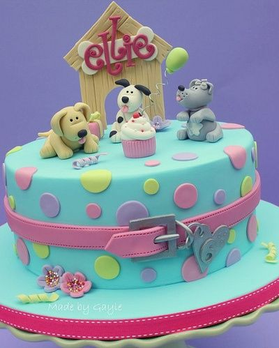 Dog Design Cake Recipes : But with paw patrol characters! Birthday party ideas ...