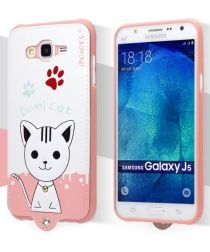 Samsung Galaxy J5 Leiers Domi Cat Series Leather Coated TPU Case Wit