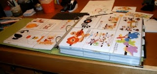 """One """"visual"""" crafters creative way to organize her Paper Piercing patterns and SVG's  ~~  I would SO use this!!! Great for inspiration and ideas!"""