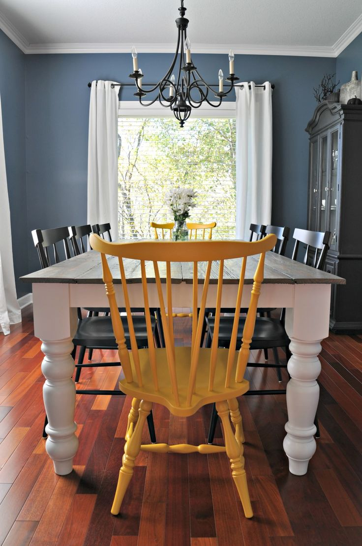 Best 25 yellow chairs ideas on pinterest bedroom for Yellow farmhouse table