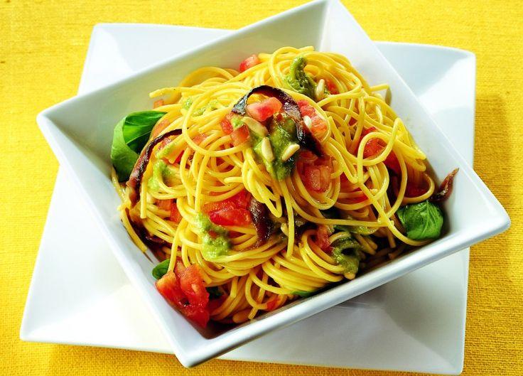 Spaghetti freddi alle acciughe