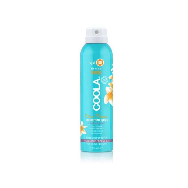 Molto #Cool! #Coola #Sport Continuous #Spray #Citrus #Mimosa SPF 30 è una #protezione #solare delicatamente profumata, trasparente e di assorbimento immediato. Offre una protezione ad ampio #spettro. Formulato con il 70% di #ingredienti #biologici certificati. Ricco di #Omega-3 e 6 consente di ottenere un' #abbronzatura #intensa e una pelle protetta dai #danni dei #raggi #solari