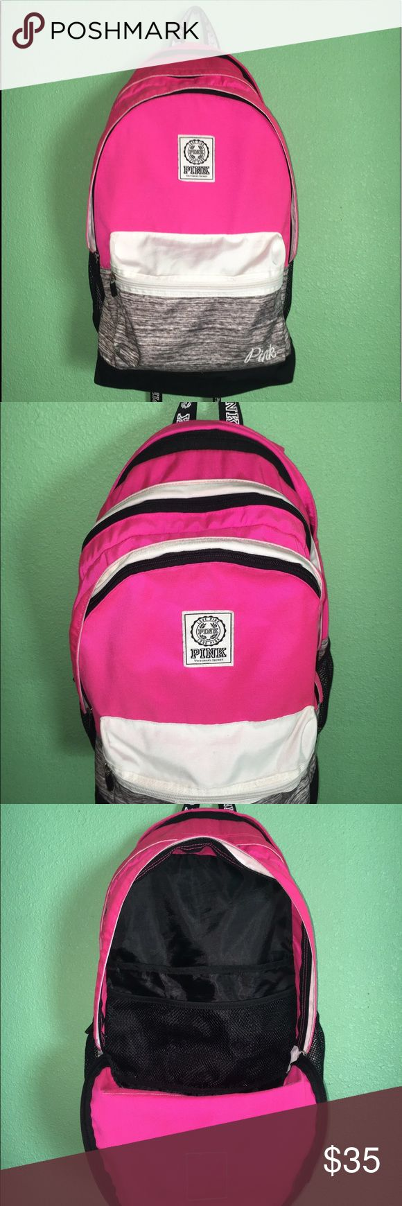 PINK VS BACKPACK ! I bought this backpack for me but will no longer need it. This is a great backpack for school. It is in great conditions no stains nor rips. It has 4 different departments. 1 that can be used for pens and pencils, 2 that can be used for notebooks and binders and the other can be used for your laptop. PINK Victoria's Secret Bags Backpacks