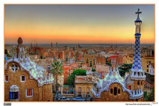 Barcelona from the top of Park Guell