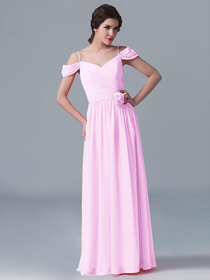 Off the Shoulder Chiffon Dress