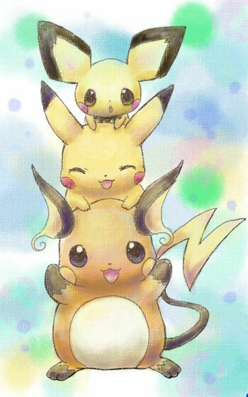 evolution pichu pikachu and raichu