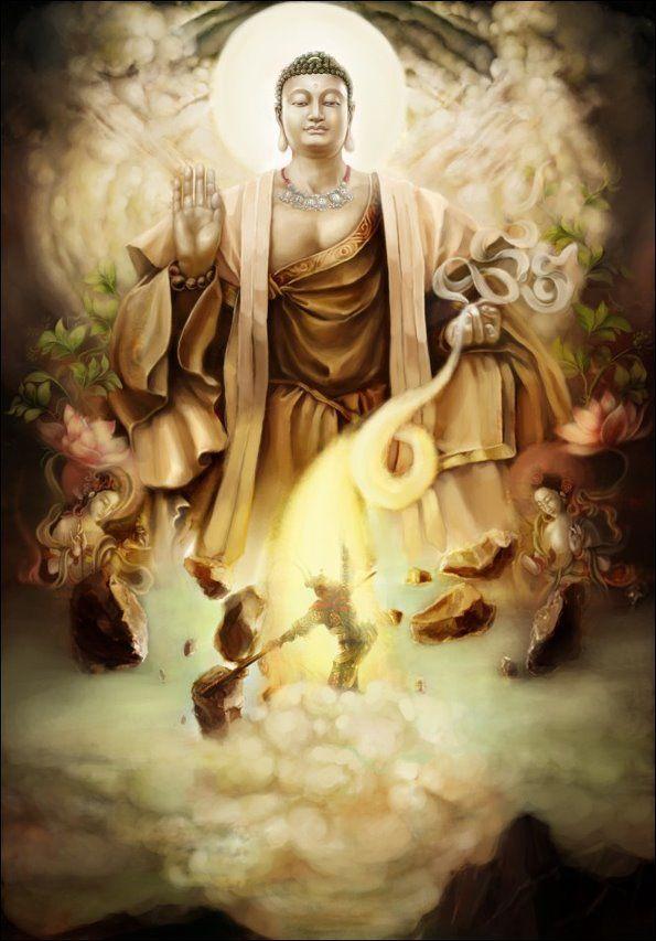 buddha tamed monkey king