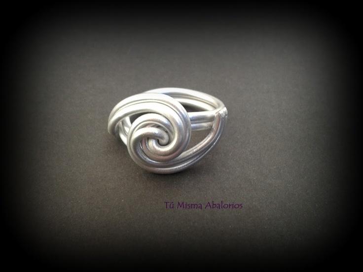 Anillos aluminio www.tumismaabalorios.blogspot.com