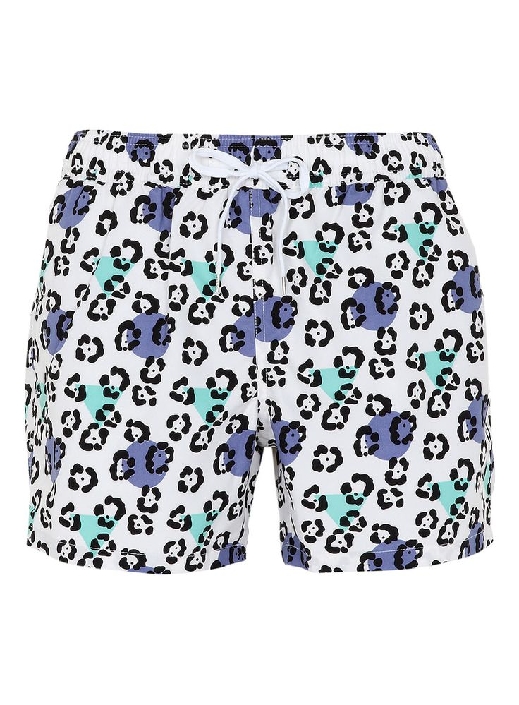 Leopard Pattern Swim Shorts Men S Swimshorts Clothing