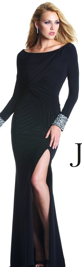 Long Sleeve Black Cocktail Dresses From Janique