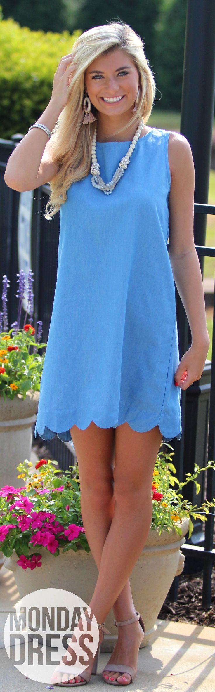 Beauty Blue Dress | Monday Dress Boutique