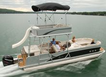 2 story pontoon boat with slide. I need one of these!