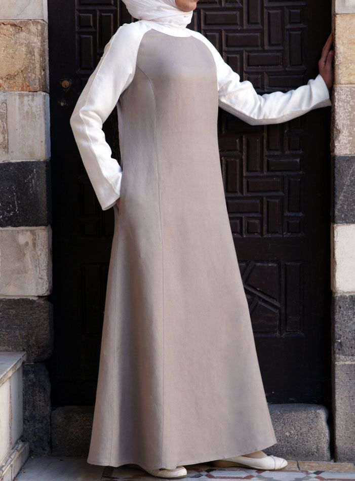SHUKR USA | Linen Contrast Abaya