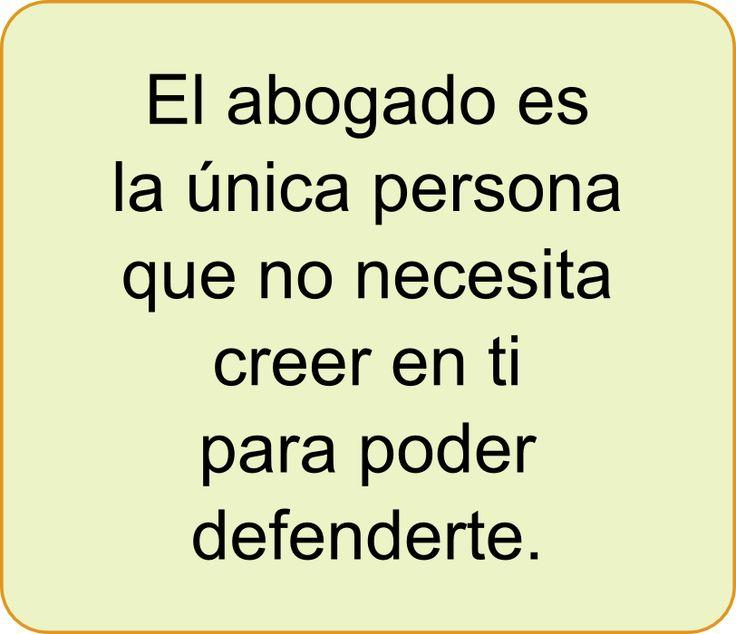 El #abogado es