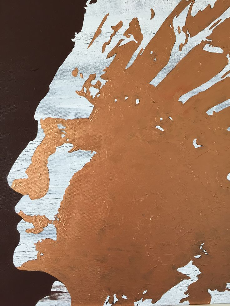 """Indian Chief II"" by Maria Fosli 50x50 acrylic"