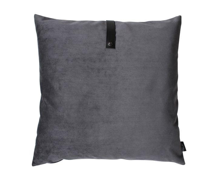 CASANOVA Møbler — Louise Smærup - Velour pude 65x65 - mørk grå