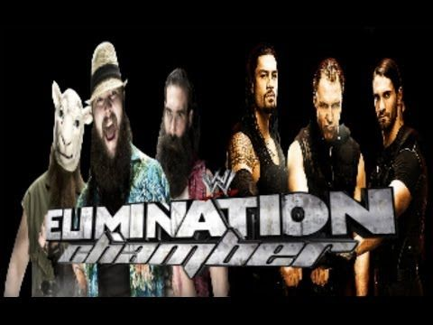the wyatt family vs the shield | The Wyatt Family vs.The Shield at Elimination Chamber 2014 (My ...
