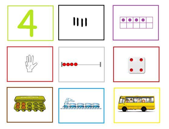 Cijferkaart 4:  Met deze cijferkaarten kun je veel rekenactiviteiten doen in de groep. Ze kunnen heel goed gebruikt worden bij de digibordles: http://digibordonderbouw.nl/index.php/lessen/rekenen/telenzoek112