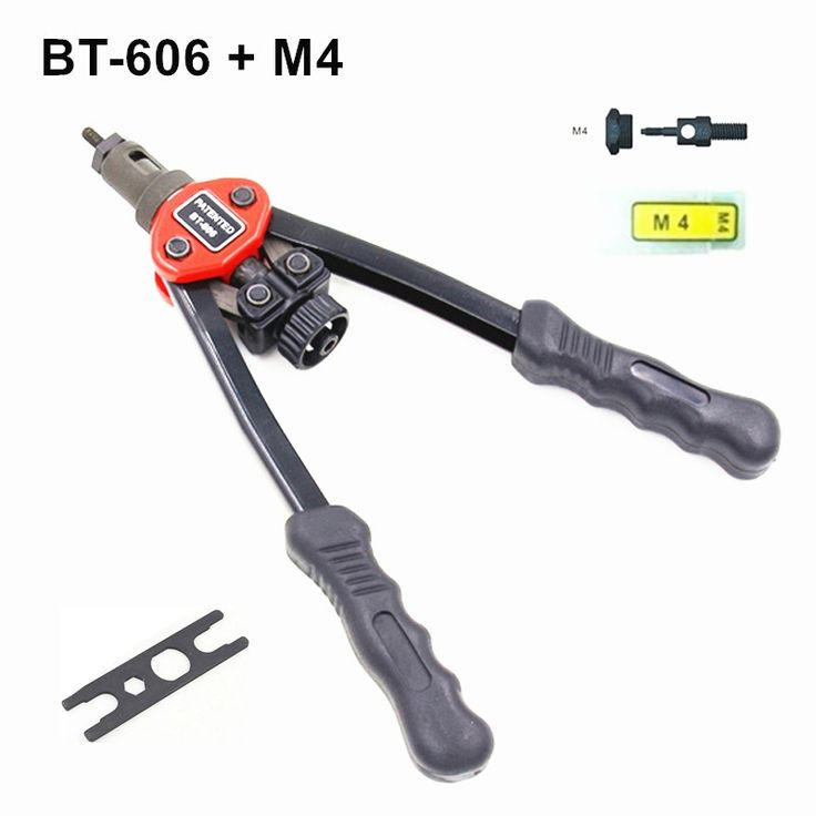 53.10$  Watch now - http://alint0.shopchina.info/go.php?t=32780319573 - Hot sales high quality hand riveter free shipping pull rivet nut riveting tools with one M4 die BT-606 53.10$ #magazineonlinebeautiful