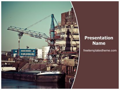 25 best free industrial powerpoint ppt templates images on download free port industry powerpoint template for your powerpoint toneelgroepblik Image collections