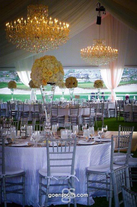 Outdoor Wedding Reception On The La Cantera Golf Academy Lawn