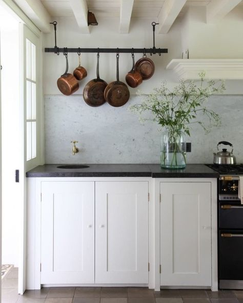 Kitchen Cabinets Island Shelves Cabinetry White Walnut Stone Modern Traditional Rustic Farmhouse: White Farmhouse Kitchens, Farm Kitchen Interior