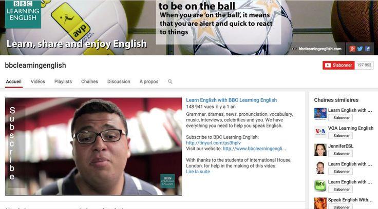 3 chaînes Youtube pour apprendre l'anglais à travers des vidéos. #tice