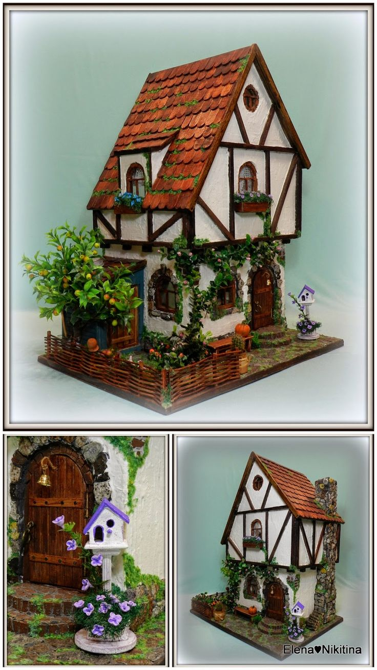 edited houses cottages miniature real cottage products toys dollhouse kiwi good