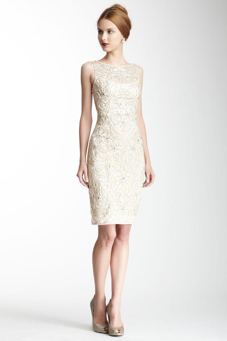 Boatneck Beaded Dress