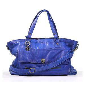 Bag - PIeces Blauwe handtas