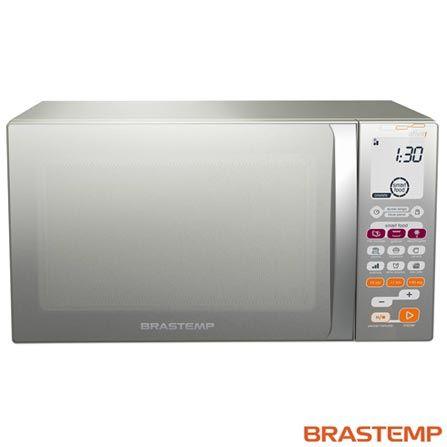 Imagem para Forno Micro-ondas Ative! Brastemp com Capacidade de 30 Litros e Grill Inox - BMT45BR a partir de Fast Shop