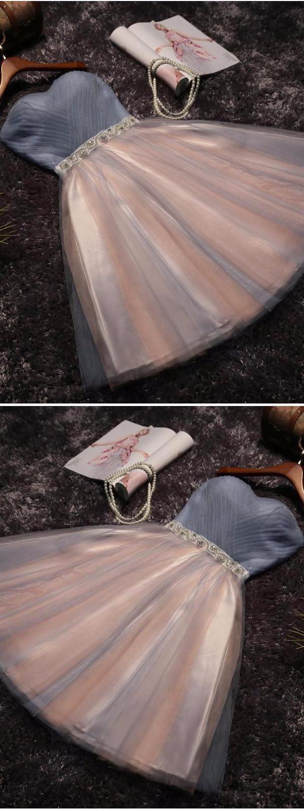 Lace Prom Dress Blue Prom Dress #LacePromDress #Bl…