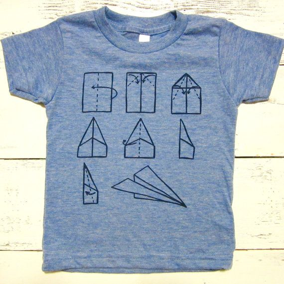 Paper airplane baby and toddler shirt. American by Sweetpeaandboy