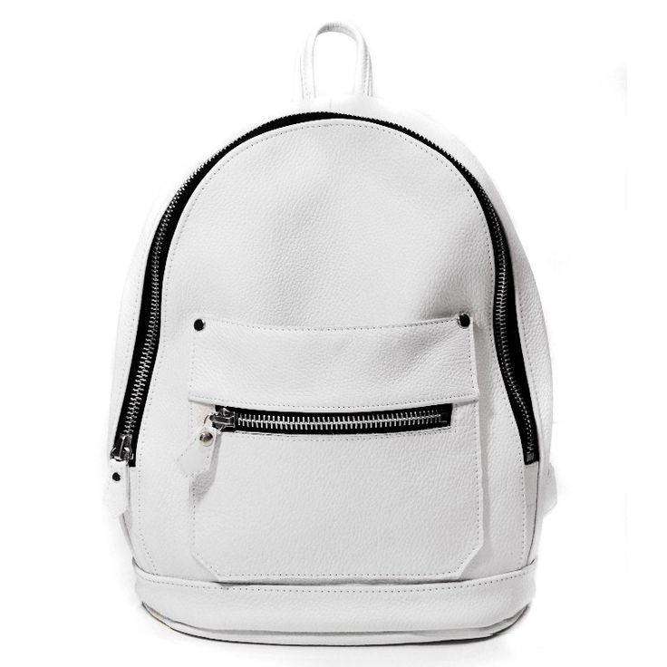A Simply sized all day everyday essential, white leather never looked so right.