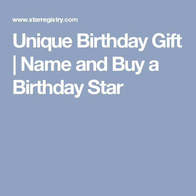 Unique Birthday Gift | Name and Buy a Birthday Star