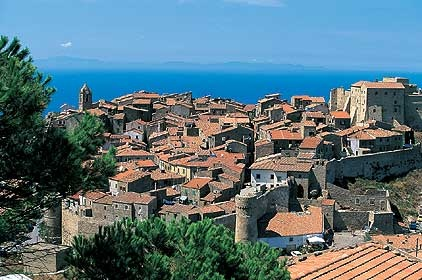 The small village og Giglio Castello, not only sea on the isle, Giglio Island, Silver Coast, Maremma, Tuscany, Italy