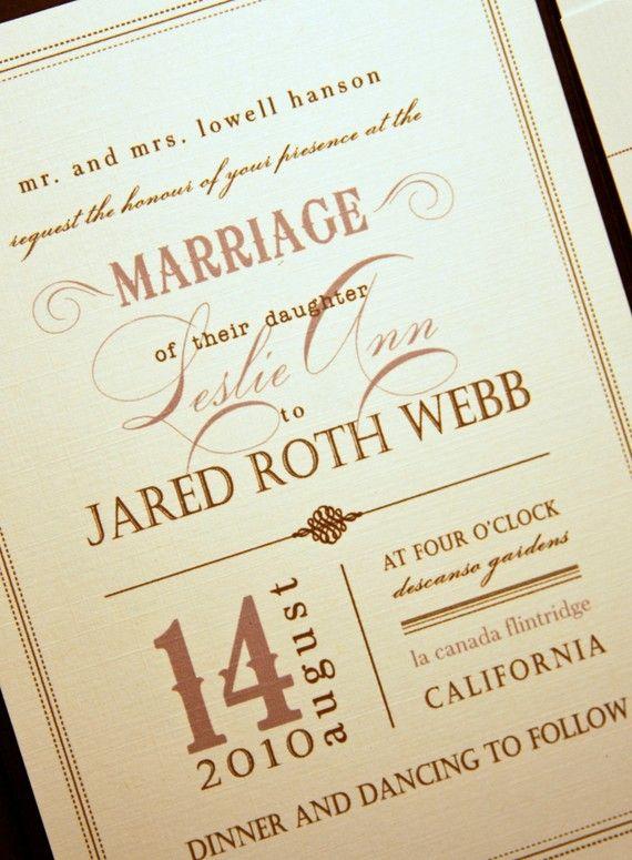 Vintage Wedding Invite